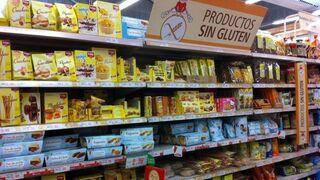 Productos sin gluten en un supermercado