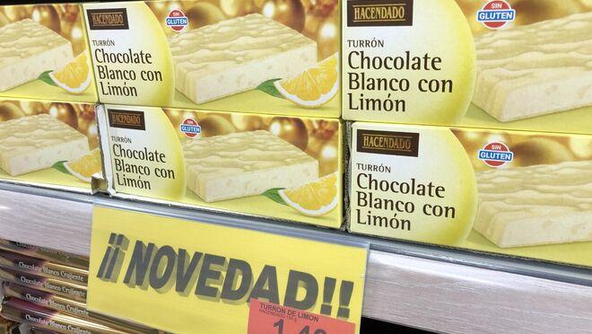 Mercadona lanza un turrón de chocolate blanco con limón