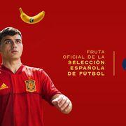 Plátano de Canarias, fruta oficial de la Selección Española de Fútbol en 2021